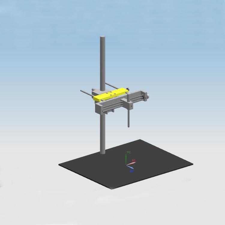 滑轨探头试验平台