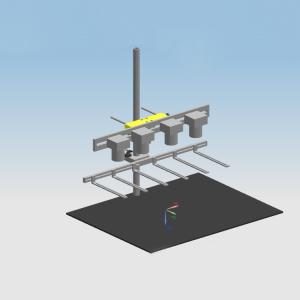 4目相机实验架