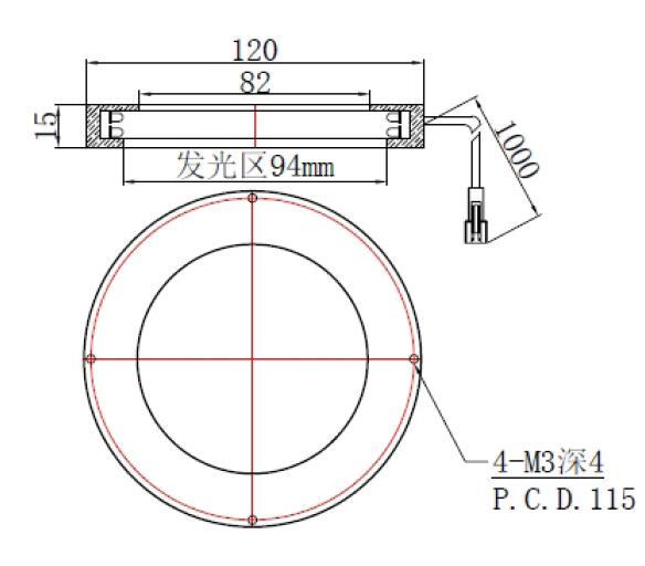FH-RI12090H环形光源尺寸