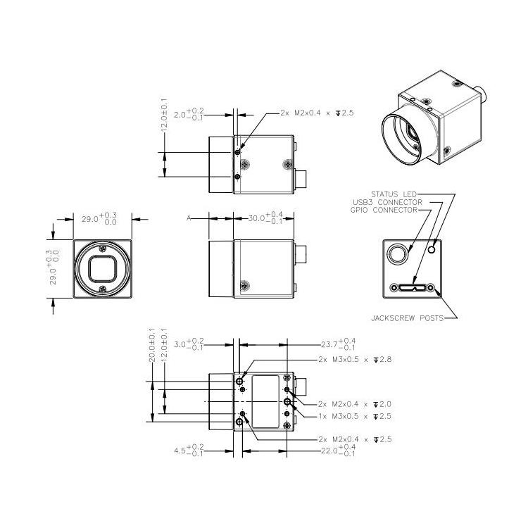 BFLY-U3-13S2C尺寸